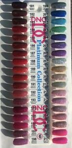 DND DC Platinum Glitter 0.6oz/18ml LED/UV Gel Polish + Color Swatch
