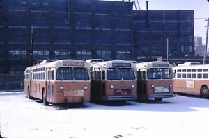 Milwaukee & Suburban Transit Marmon Trolleybus Kodachrome original Kodak Slide