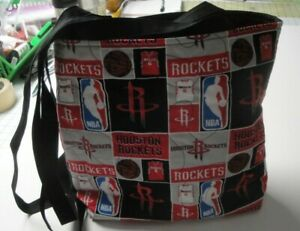 Houston Rockets-Patchwork Tote Bag-Machine Quilted-Hand Made
