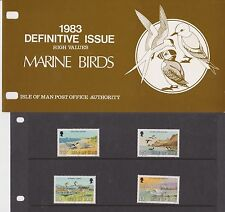 ISLE OF MAN Presentation Pack 1983 DEFINITIVE ISSUE BIRDS HIGH VALUE 10% off 5+