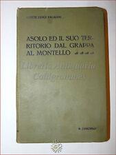 STORIA LOCALE:Paladini, ASOLO E IL SUO TERRITORIO GRAPPA MONTELLO 1919 ded. aut.