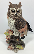 Fitz And Floyd Exotic Bird Figurine Horned Owl