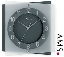 AMS Horloge murale 9323 Quartz Verre minéral Façade Arrière/FOND de bureau
