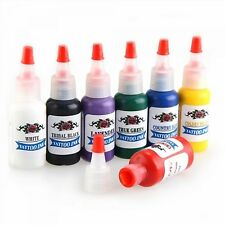 Tattoo Ink Pigment Supplies Kit 7 Color 15ml 1/2 oz Ounce Body Art Tatto Inks