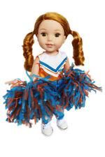 Orange And Blue Cheerleader For Wellie Wisher Dolls
