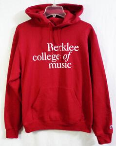 Vintage Berklee College of Music Burgundy Champion Hoodie Sweatshirt size Small