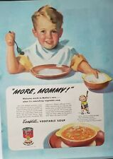 Lot of 3 Vintage 1945 Campbell's Soup Print Ads