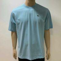 Lacoste Sport Hommes Tricot Coton Texturé Gaufre Court Manche T Shirt Large Bleu