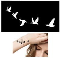 Body STENCIL per tatuaggio tattoo temporaneo colori henné UCCELLI IN VOLO