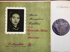 33CX 1204 Maria Callas Sings Operatic Arias By Puccini