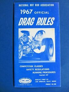 1967 NHRA DRAG RULES Safety Regulations, Competition Classes, Running Procedures