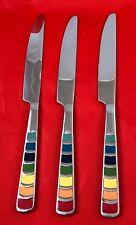 Fiestaware Stainless Steel Silverware--Masquerade Pattern Set/3 Dinner Knives