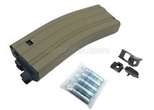 CO2 Tan Mag for Full Metal WE M4 SCAR GBB Rifles Close Open Bolt Set 5 CO2