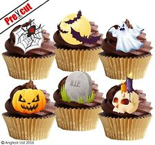 PRE-CUT HALLOWEEN MIX III. EDIBLE WAFER PAPER CUP CAKE TOPPERS PARTY DECORATIONS