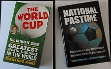 "LOT OF 2 SOCCER BOOKS:  ""THE WORLD CUP"" BY FIORE & ""NATIONAL PASTIME"" SZYMANSKI"