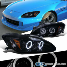 For Honda 04-09 S2000 S2K AP2 Tinted LED Glossy Black Projector Headlamps Lights
