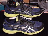 ASICS T415N GEL FujiRacer 3 Performance Running Shoes Navy Black Mens 11.5