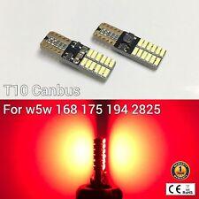 T10 194 168 2825 12961 License Plate Light Red 24 Canbus LED M1 For Chevrolet
