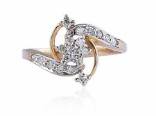 Pave 0.35 Cts Round Brilliant Cut Natural Diamonds Wedding Ring In 585 14K Gold