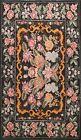 Floral Semi-Antique Kilim Turkish Oriental Area Rug Reversible Hand-Woven 7'x10'