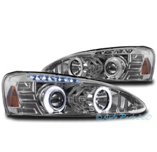 04-08 PONTIAC GRAND PRIX DUAL HALO LED PROJECTOR HEADLIGHTS LAMP CHROME 05 06 07