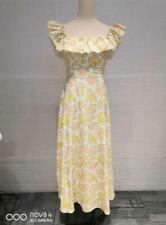 Zimmermann Off Shoulder Women Long Dresses Floral Sleeveless Slim Fit Lady Dress