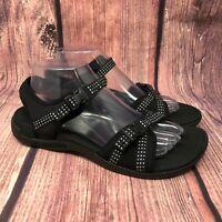 Merrell District Muri Backstrap Women's Black Memory Foam Sport Sandals Size 9