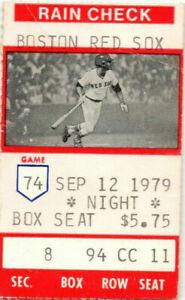 1979 Carl Yastrzemski  3000 Hit Photo Ticket Pass Ex Boston Red Sox Scarce Yaz