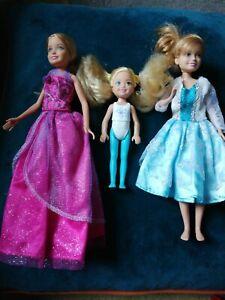 Barbie Doll Bundle Stacie Kelly kids in clothes dresses
