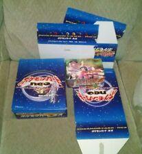 Pokemon EMPTY Japanese Neo File Folder 2 Booster Box Store Display