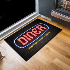 Diner Neon light brick wall Door mat 60 x 40 cm - American 50's Diner indoor mat