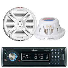 Marine Boat Detachable Face MP3/USB/SD AM/FM Stereo W/Bluetooth +2 400W Speakers