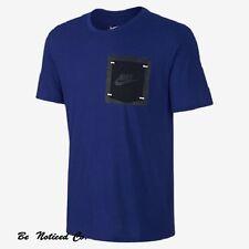 Nike Box Pocket Men's T-Shirt XL Blue Gym Casual Training Running New