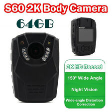 64GB HD Police Force Tactical Body Worn Camera IR Night DVR 6 hours 150° 1296P