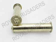 "NEW ROYAL ENFIELD BRASS HANDLE GRIP LION FACE 7/8"" #RE93"
