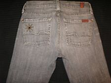 7 for all Mankind jeans Great China Wall GCW Bootcut Gray Distressed Sz 25