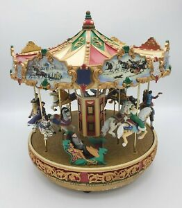 """MR CHRISTMAS /""""DELUXE HOLIDAY CAROUSEL/""""  NEW"""