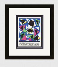 "HERNI MATISSE Exhibition Poster ""School of Decorative Arts"" SIGNED Framed COA"
