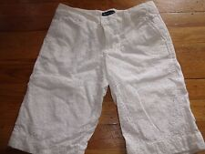 Ralph Lauren Polo WHITE  DRESS SHORTS SIZE 12 EUC SUMMER BOTTOMS EYELET PARTY