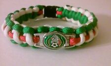 """MEXICO SOCCER TEAM PARACORD BRACELET GREEN WHITE RED 550 CORD 8.5"""" COPA AMERICA"""