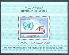 Yemen Republic 1991 ** Bl.10 UNO Vereinte Nationen