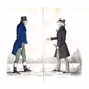EDINBURGH Jas Gibson-Craig & Tom Dick-Lauder Caricature Print 1882 by Crombie