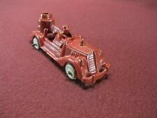 HUBLEY CAST IRON RED FIRE PUMPER TRUCK - 3 IN - WHITE TIRES #49 BOTTOM OF HOOD