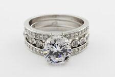 Art Deco Style Diamond Engagement Ring and Matching band set 4.50 carat Round...