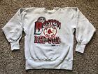 Vintage 90s Boston Red Sox Gray XL Trench Reverse Weave Crewneck Sweatshirt VTG