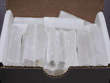 Selenite Sticks Collection 1/2 Lb Natural White Gypsum Crystal Blades