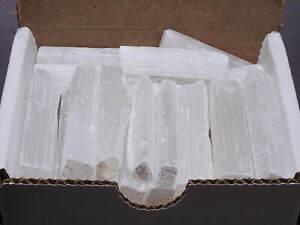 Selenite Sticks Collection 1/2 Lb Natural White Gypsum Crystal Blades