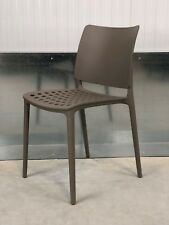BRAND NEW: DESIGNER/ CONTEMPORARY MINK BROWN PLASTIC OFFICE/ HOME CHAIR
