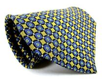 Riggins Silk Tie Gold Blue And Green Geometric Classic Necktie 56 x 4 New
