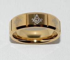 Masonic Freimaurer Ring Tungsten Carbide 24 k vergoldet 20,21,22mm
